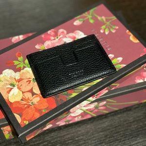 NWOT Tom Ford T Line Leather Wallet Card Holder